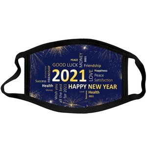 2021 face mask new year mask Kids Christmas washable Dust and haze mouth masks happy new year face mask DHA2695