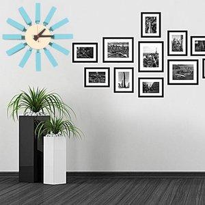 Reloj Pared Wall Clock Duvar Saati Decoracion 현대적인 디자인 Nordica Hogar Horloge Mule Moderne 거실 나무 시계