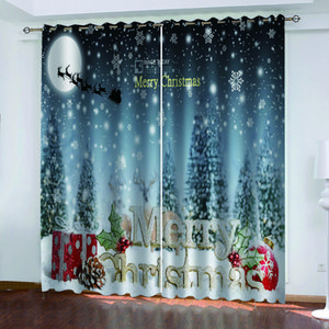 Luxury Blackout 3D Window Curtains For Living Room Bedroom christmas curtains Decoration curtains
