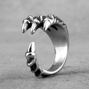 Dragon Claw Skull Stainless Steel Mens Rings Punk Hip Hop Personality For Male Boyfriend Biker Jewelry Creativity Gift Wholesale sqcznT