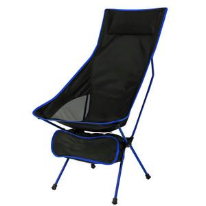Hooru Beach Chair de camping Dossier Pliante Pêche Chaise longue Chaise Portable Portable Portable Léger Chaises pour Voyage Q1130