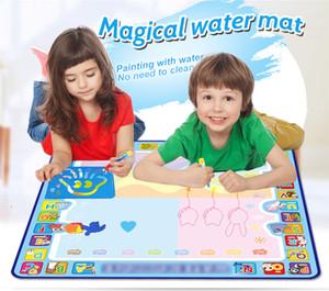 Coolplay 100x100 cm Sihirli Su Çizim Mat Doodle Mat 4 Çizim Kalemler 1 Pullar Set Boyama Kurulu Eğitici Oyuncaklar Çocuklar için