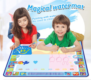 Coolplay 100x100cm Magic Water Disegno Mat Doodle Mat 4 Drawing Pens 1 Francobolli Set Painting Board Giocattoli educativi per bambini