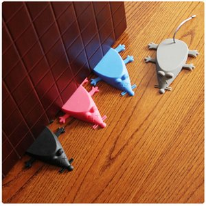 Silicone Door Stop Stopper Baby Safety Cute Cartoon Mouse Door Stopper Safe Protector Anti-pinch Hand Child Safety Security