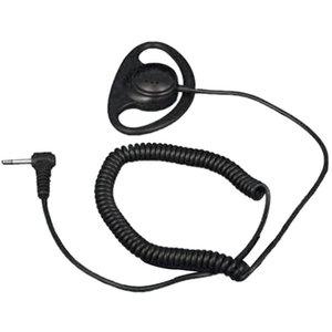 3.5mm Listen Only D Shape Earpiece Earhook For Speaker Mic For Motorola
