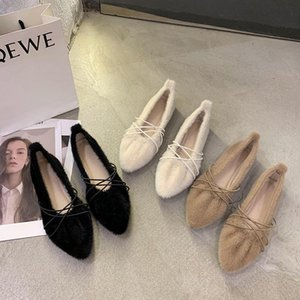 Classics Mules Shoes Women Flats Luxury Soft Ballet Shoes Designer Pointed Toe Slip On Flat Retro Loafers Fashion Korean