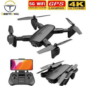 Deepaowill F6 GPS-DRONE 4K-Kamera HD FPV-Drohnen mit Follow ME 5G WiFi Optischer Fluss Faltbarer RC-Quadkopter Professionelles DRON 210202