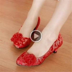RTZ76 3ivsi Fashion2019 Chaussures mariage Chers Simple Rouge Tradition généreux Concise Femmes Chaussures 7006-16 Fashion2019 Chaussures mariage Chers
