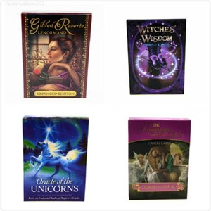 5pcs Romance Angels Oracle Cards Deck Mysterious Tarot Board Game Read Fate Toys English Version 4 styles