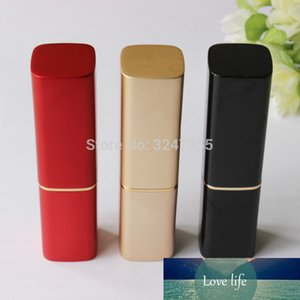 12.1mm Black Aluminum Cosmetic Lipstick Tube, Matte Red Metal Professional Lip Balm Bottle, Frosted Gold Aluminum Lip Rouge Tube