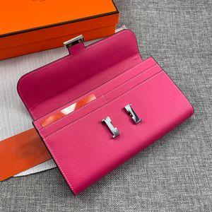Moda Marcas Carteras High Quas Hombres Mujeres Wallet Designers Monedero Oro Silver Hardware Big Space Card Tarjeta con cremallera con caja