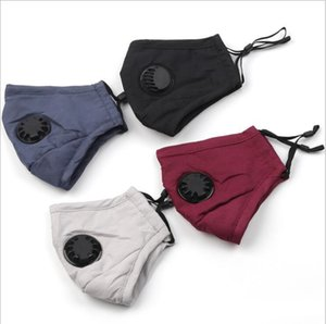 Máscara de algodão de tecido com válvula de moda lavável facemask 4 cores Oferta Escolha a máscara facial lavável de transporte rápido