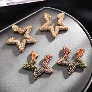 Luxury Fashion Full Zircon Earring Five Pointed Star Earbone Clips Ear Cuff Non Pierced Earrings 2020 Trending Products Zk30