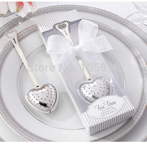 Stainless steel heart shape infuser ball novelty party supplies wedding gifts for guests wedding favors 20pcs lot