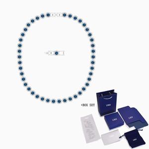 2020 Moda Takı Swa Yeni Melek Kolye Zarif Ve Büyüleyici Mavi Kristal Beyaz Altın Kolye Kadınlar Vahşi Lüks Romantik Z1126
