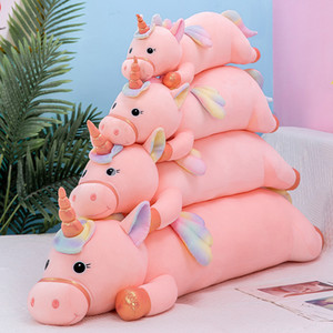 New Hot Plush Toys Kawaii Unicorn Dolls Soft Stuffed Animal Horse Toys Long Pillow for Children Kids Girls Gifts New Year Christmas Present