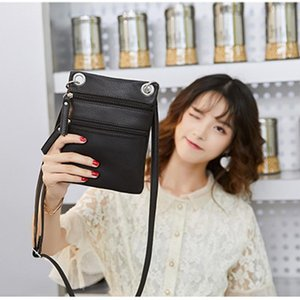 Fashion Ladies 2020 Newly Leisure Concise Women Cross Body Shoulder Bag Zipper Large Tote Ladies Purse solid color
