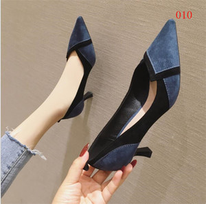Hot style - Latest Fashion Women Red Bottom High Heels Brands Exclusive Leather and PVC Pointed Toe Pumps Dress Shoes size 34-45