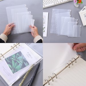 Clear Binder Pockets A5 A6 A7 Zipper Binder Pouch 6 Holes PVC Zipper Loose Leaf Bags Document Filing Bags for Notebooks Document 32 G2