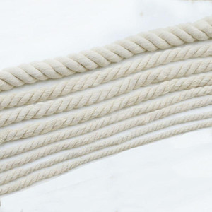 6 19mm Diameter White Cotton Rope Twisted Cord Craft Macrame Cord Artcraft String DIY Handmade Tying Thread Home use1