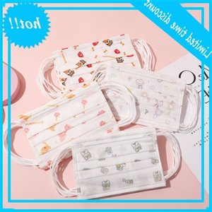 PM2.5 Kids mask Disposable Children Cartoon Face Masks protective non-woven Anti-spit 3 layers Breathable Earloop in stock
