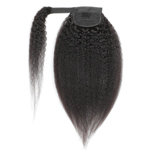 Hook Loop LonyTails Kinky Straight Brasileño peruano Virgin Human Hair 8-24 pulgadas Yaki Color natural Indio Hair Human 100g Extensiones de cabello