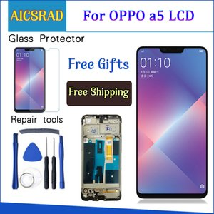6.2 '' Para OPPO A5 LCD Display Display Touch Screen Digitador Assembly para OPPO A3S CPH1803 LCD Display