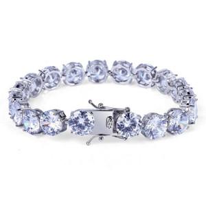 10MM Zircon Tennis Bracelets Jewelry 2019 New Fashion Luxury Exquisite Grade Quality Platinum Plated Hip Hop Bracelets For Men Women LBR077