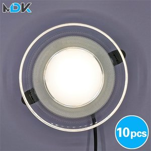 10pcs Light guide LED Downlight Round Shape Acrylic Panel Lights Ceiling Recessed Lamps 3W 5W 7W 9W 12W 15W High Brightness Q1121