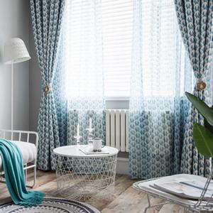 Tende moderne per salotto Balcone Tende da finestra in cotone poliestere per camera da letto alta ombreggiatura