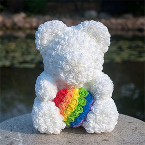 rose Valentine's creative Day bear simulation embrace bearl flower gift CCJW