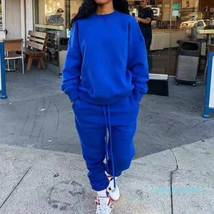 Women's Two Piece Set Winter Long Sleeve Pullover Tops Sweatshirt Loose Jogger Pants Y2K Tracksuit Matching Set Casual Outfit