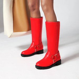 Women's Rubber Boots Female Shoes Round Toe Rivets Luxury Designer Winter Footwear Sexy Thigh High Heels High Sexy Rain