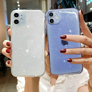 BLING GLITTER TPU Case for iPhone 12 Pro 11 XR X XS Pro Max 7 8 Gel Clear Soft Phone Cover Case