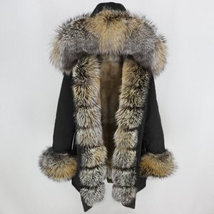 OFTBUY Waterproof Long Parka Winter Jacket Women Real Coat Natural Fox Fur Collar Hood Thick Warm Streetwear Detachable New