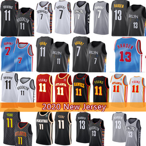 13 Harden 7 Kevin Kyrie Trae 11 Joven Irving Durant Basketball Jersey 2021 New Jersey