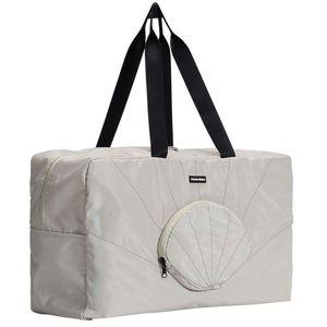 Men Women Casual Hand Waterproof Solid Foldable Weekend Holdall Large Capacity Travel Bag Duffle Lightweight Zipper Shell Shape
