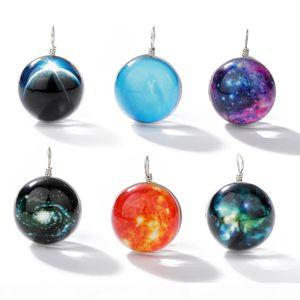 New arrival universe luminous galaxy glass ball pendants charm for necklace bracelet fashion ball shape diy jewelry making charm