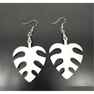 20pcs Sublimation Blank Earrings White Wood Eardrop For Diy Hot Fashion Personalized Women Ear-rings Round Waterdro sqctjx queen66