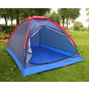 NEW-Outdoor Camping Tent 2 Person Single Layer Windproof Waterproof Tent Beach for Fishing Hiking Mountaineering