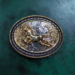 Silver Gold Running Horse Cowboy Belt Buckle For Men Women Belt Head Fit For 4cm Width Belts