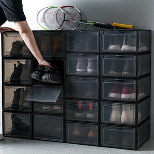 Transparent Shoes Box Sneaker Basketball Shoes Storage Organizer Collection Sundries Cabinet Dustproof Antimoisture Shoes Wall C0116