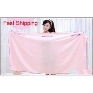 Solid Color Magic Bath Towel Lady Girls Spa Shower Towel Body Wrap Bath Robe Magic Girl Wearable Bathrob jlliqU soif