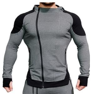 Felpe casual casual da uomo Felpe muscolari maschio palestra fitness cappotto sottile cappotto con cappuccio con cappuccio per cappelli