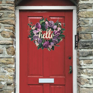16.5Inch Wreaths Farmhouse Garland for Front Door,Home Decor for Window Wall Party Wedding