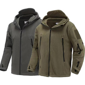 Men US Winter Thermal Fleece Tactical Jacket Outdoors Sports Hooded Coat Militar Softshell Hiking Outdoor Army Jackets
