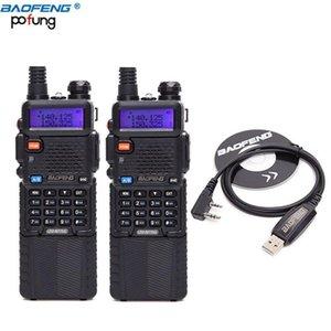 2pcs Baofeng UV-5R8W Tri-Power 1W / 4W / 8W RADIOS PORTAILLES DU TALKIE TALKIE TALKIE BAOFENG 3800MAH Batterie + Câble de programmation USB