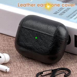 For Apple AirPods Pro Cover Leather Earphone Shockproof Case For Air Pods 2 1 Wilress Headphone Charging Box Business Style