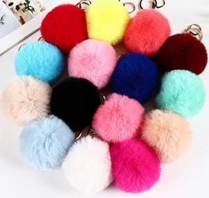 8cm Imitieren Kaninchen Pelz Ball Keychain Pom Pom Car Handtasche Schlüsselanhänger Dekoration Flauschiger Faux Kaninchen Pelz Schlüsselanhänger Bag Zubehör