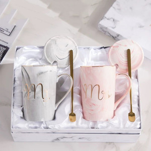 Couple Mark Coffee Cup Pair Cup Wedding Gift Anniversary Cup Luxury Gift Box for Bride and Groom
